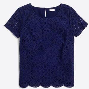 JCrew Factory Lace t-Shirt